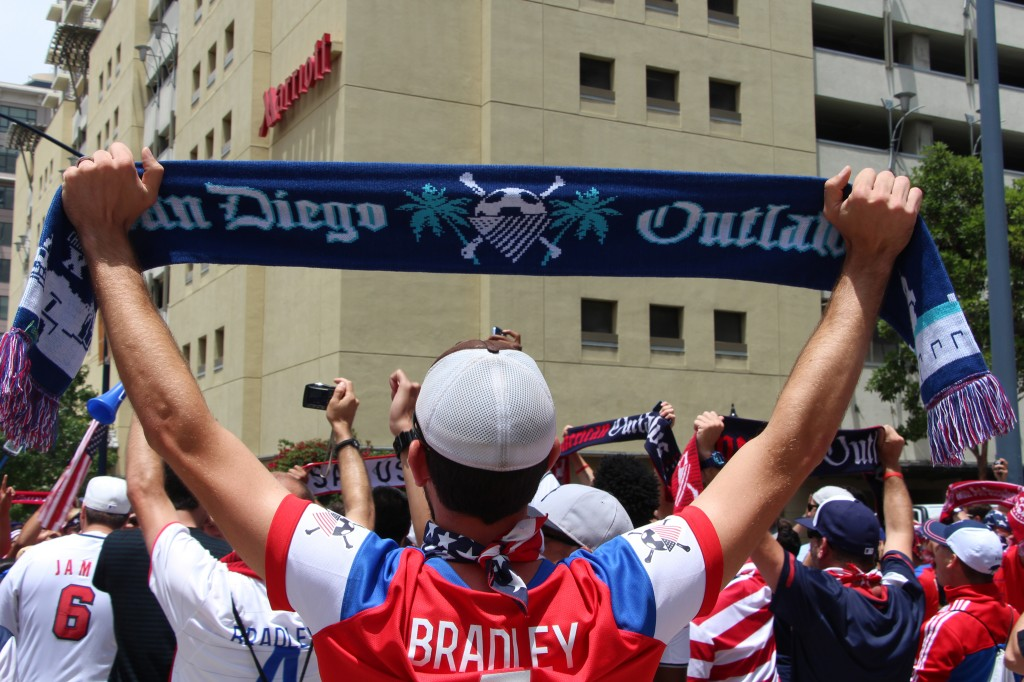 Waiting Outside Petco Park - American Outlaws San Diego March to the Match