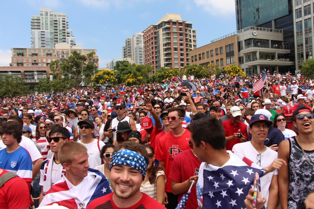 Sea of Red, White and Blue - American Outlaws San Diego March to the Match