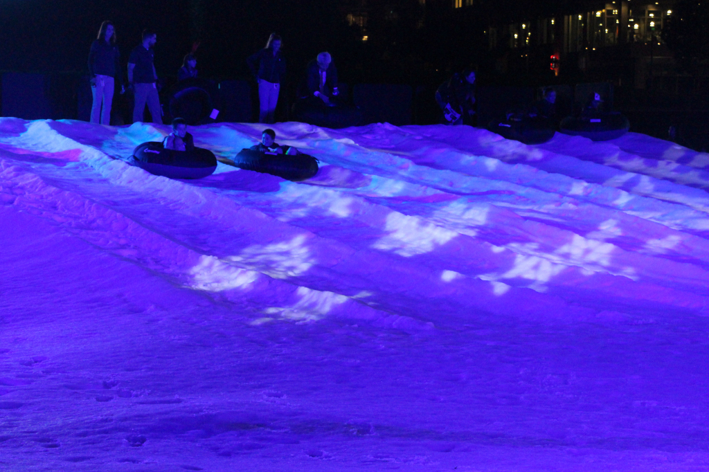 Sled Rides Down Snow Mountain - Holiday Wonderland at Petco Park