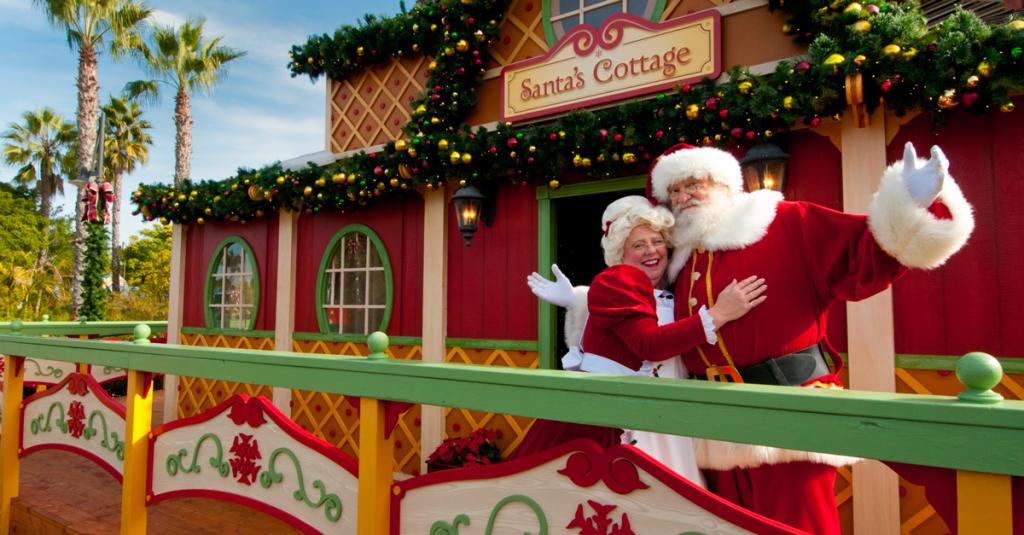 Santa at SeaWorld San Diego's Christmas Celebration