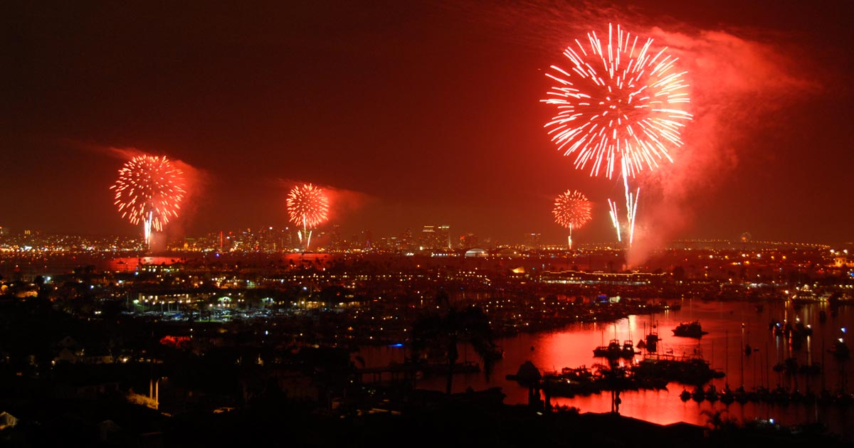 San Diego's Big Bay Boom Fireworks Display - 4th of July